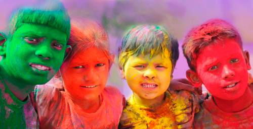 children holi