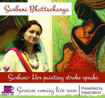 IndiaCafe24-03- sarbani Bhattacharya Poster