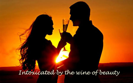 Intoxicated by the wine of beauty 1