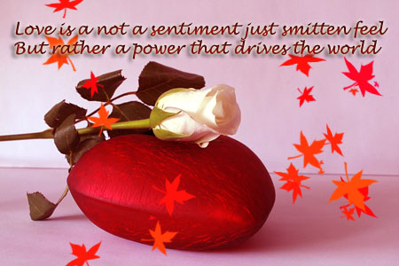 Love is a not a sentiment just smitten feel 1