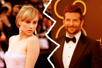 Suki Waterhouse and Bradley Cooper copy