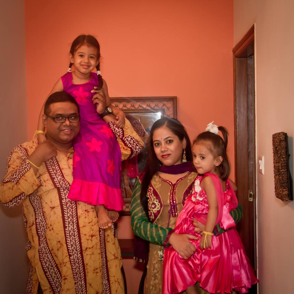 Tannishtha with family