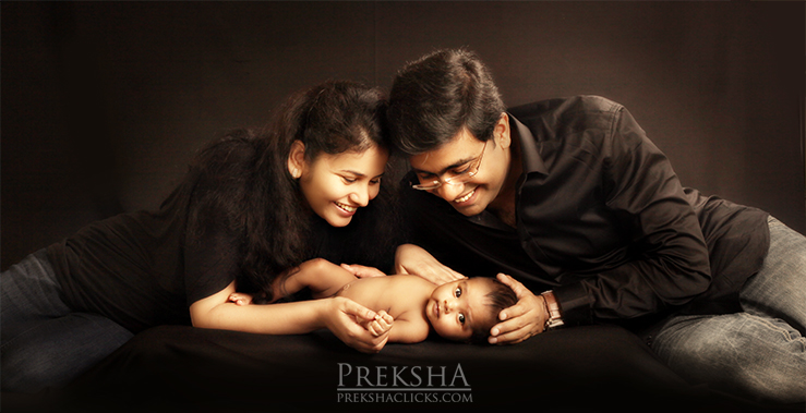 2 months old family photography