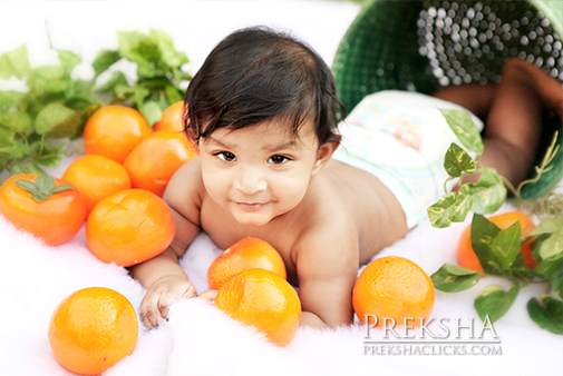 Fruits & baby photoshoot