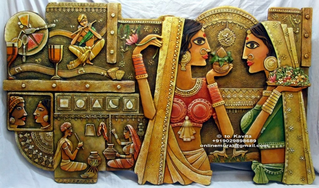 4 Indian Culture Muralal 8 ft long