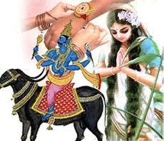 rakshya bandhan Demon king Bali and Goddess Laxmi rakhiको लागि तस्बिर परिणाम