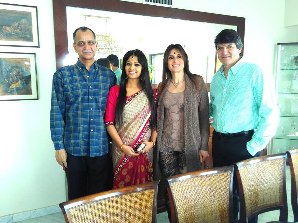 With Ambassador of India Sri Amarendra Khatua and Cosular of Columbia Mrs. Cecilia Ines Baras