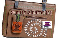Painting Saga On Leather Bag- Smita Chatterjee