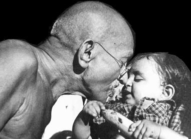 Gandhiji with Children