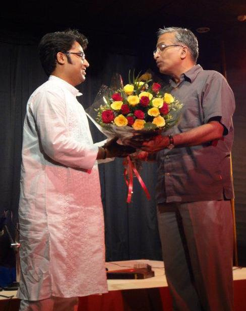 Being Felicitated by Suresh Goel,Director, ICCR
