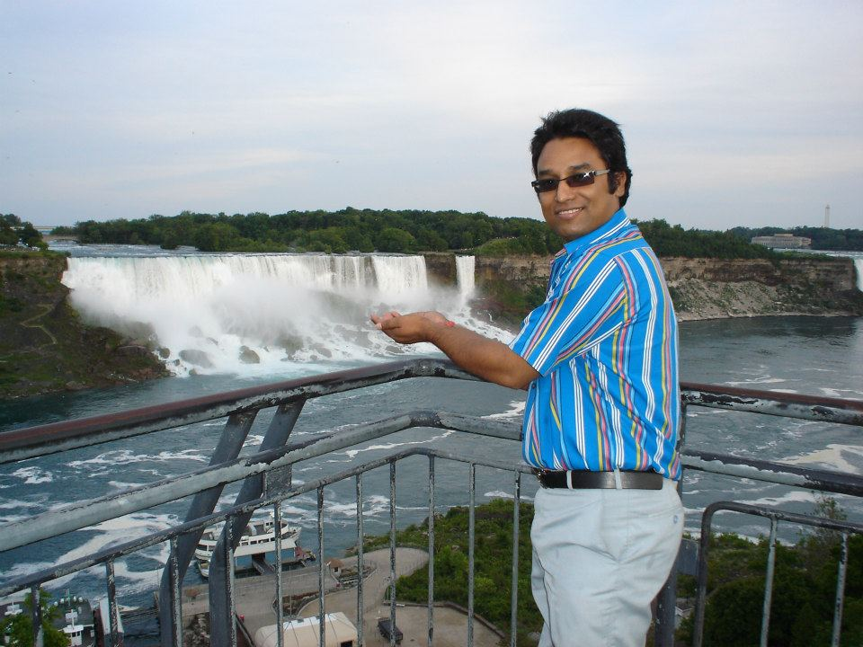In front of Niagara Fall, Canada