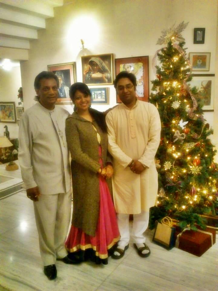 Wth Eminent Vocalist Dev Bansraj and Kathak Dancer Sangeeta Majumder in Trinidad