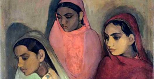 Amrita Sher-Gil painting