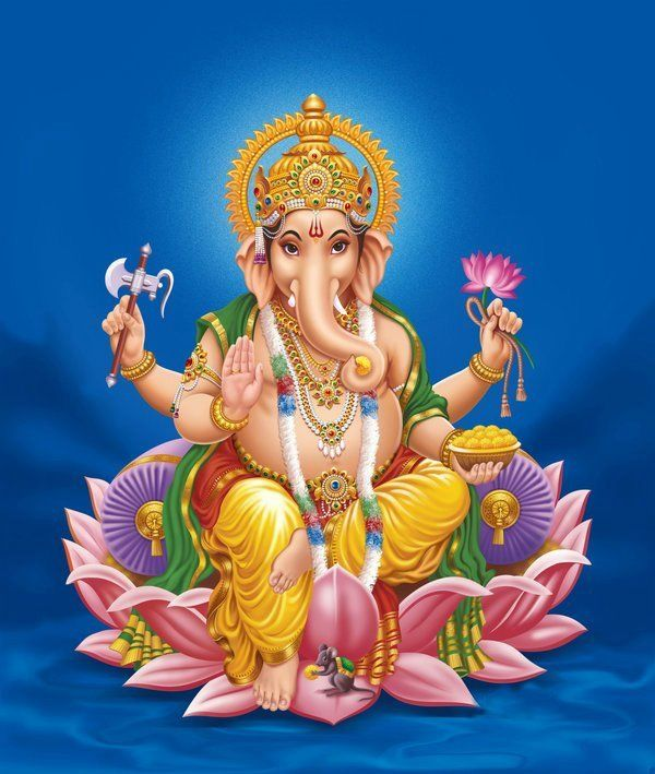 Lord-Ganesha with Lotus