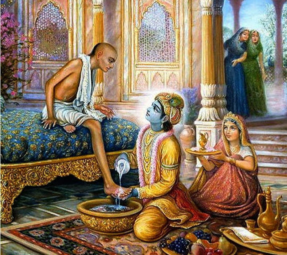 Lord Krishna and Sudama
