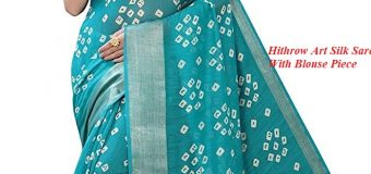 Review of Hithrow Art Silk Saree With Blouse Piece